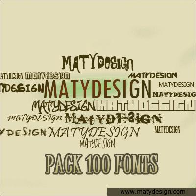 Pack de 100 Fonts RS Pack100fonts